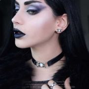 ALCHEMY GOTHIC Triple Moon Goddess Earrings | Pagan Gothic Jewellery